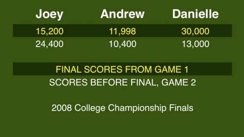 2008 Jeopardy! College Championship finals Slide01