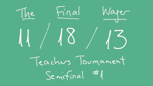 The Final Wager November 18, 2013